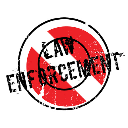 enforce: Law Enforcement rubber stamp. Grunge design with dust scratches. Effects can be easily removed for a clean, crisp look. Color is easily changed. Illustration