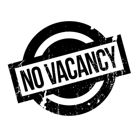 holidays vacancy: No Vacancy rubber stamp. Grunge design with dust scratches. Effects can be easily removed for a clean, crisp look. Color is easily changed.