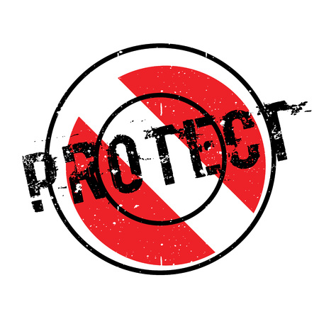 Protect rubber stamp. Grunge design with dust scratches. Effects can be easily removed for a clean, crisp look. Color is easily changed. Illustration