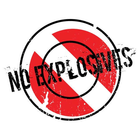 propellant: No Explosives rubber stamp. Grunge design with dust scratches. Effects can be easily removed for a clean, crisp look. Color is easily changed.