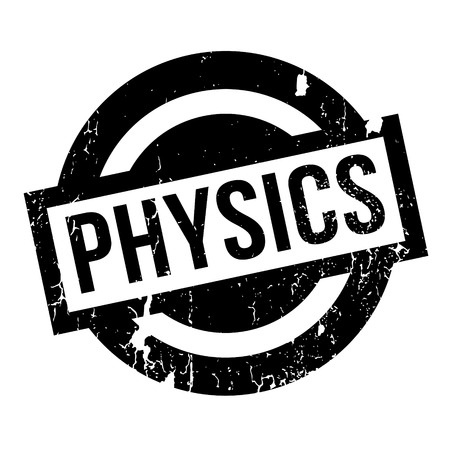 biophysics: Physics rubber stamp. Grunge design with dust scratches. Effects can be easily removed for a clean, crisp look. Color is easily changed. Illustration