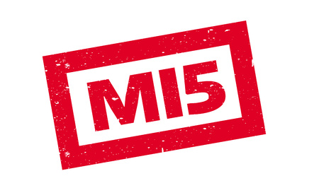 Mi5 rubber stamp. Grunge design with dust scratches. Effects can be easily removed for a clean, crisp look. Color is easily changed.