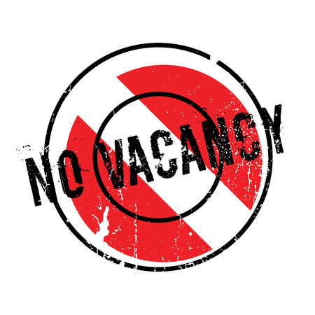 No Vacancy rubber stamp. Grunge design with dust scratches. Effects can be easily removed for a clean, crisp look. Color is easily changed.