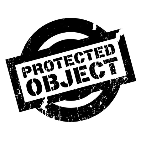 shielded: Protected Object rubber stamp. Grunge design with dust scratches. Effects can be easily removed for a clean, crisp look. Color is easily changed.