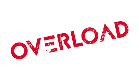 overload: Overload rubber stamp. Grunge design with dust scratches. Effects can be easily removed for a clean, crisp look. Color is easily changed.