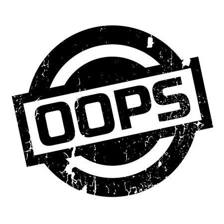 incorrect: Oops rubber stamp. Grunge design with dust scratches. Effects can be easily removed for a clean, crisp look. Color is easily changed.