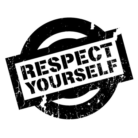 Respect Yourself rubber stamp. Grunge design with dust scratches. Effects can be easily removed for a clean, crisp look. Color is easily changed. Illustration