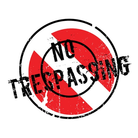 No Trespassing rubber stamp. Grunge design with dust scratches. Effects can be easily removed for a clean, crisp look. Color is easily changed.