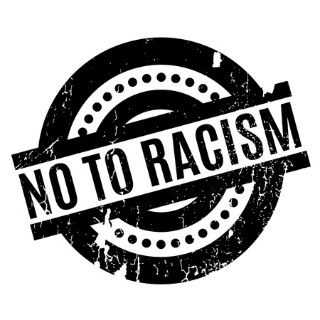 No To Racism rubber stamp. Grunge design with dust scratches. Effects can be easily removed for a clean, crisp look. Color is easily changed. Illustration