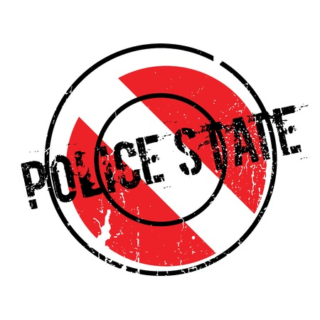 enforce: Police State rubber stamp. Grunge design with dust scratches. Effects can be easily removed for a clean, crisp look. Color is easily changed.