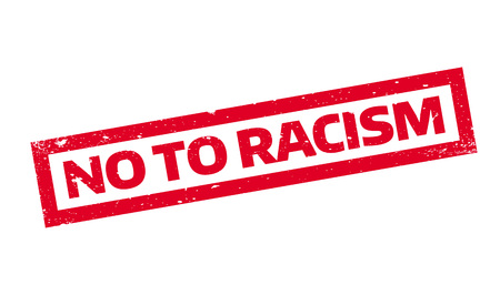bias: No To Racism rubber stamp. Grunge design with dust scratches. Effects can be easily removed for a clean, crisp look. Color is easily changed. Illustration