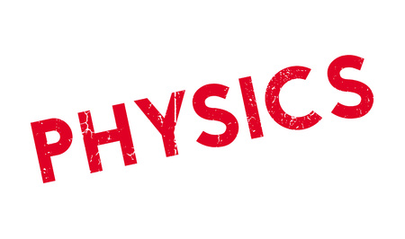 Physics rubber stamp. Grunge design with dust scratches. Effects can be easily removed for a clean, crisp look. Color is easily changed. Illustration