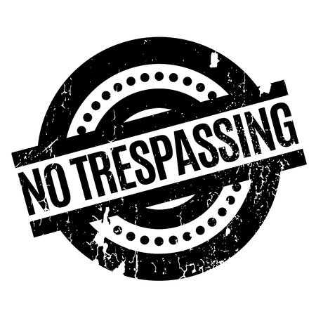 delinquency: No Trespassing rubber stamp. Grunge design with dust scratches. Effects can be easily removed for a clean, crisp look. Color is easily changed.