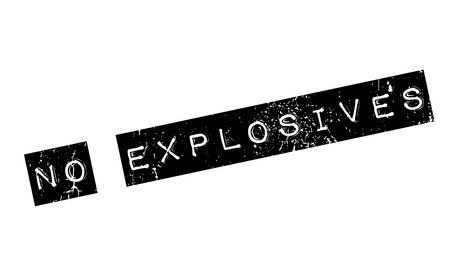 munition: No Explosives rubber stamp. Grunge design with dust scratches. Effects can be easily removed for a clean, crisp look. Color is easily changed.