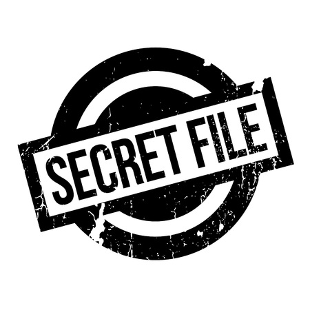 obscure: Secret File rubber stamp. Grunge design with dust scratches. Effects can be easily removed for a clean, crisp look. Color is easily changed.