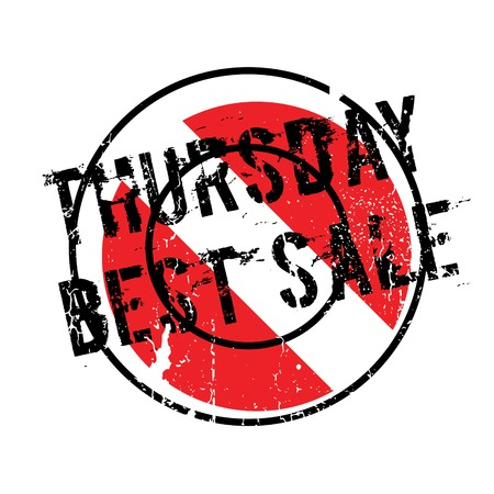 superlative: Thursday Best Sale rubber stamp. Grunge design with dust scratches. Effects can be easily removed for a clean, crisp look. Color is easily changed. Illustration