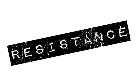 halted: Resistance rubber stamp. Grunge design with dust scratches. Effects can be easily removed for a clean, crisp look. Color is easily changed.