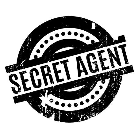 operative: Secret Agent rubber stamp. Grunge design with dust scratches. Effects can be easily removed for a clean, crisp look. Color is easily changed.