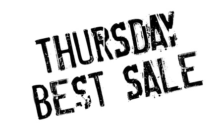 nonpareil: Thursday Best Sale rubber stamp. Grunge design with dust scratches. Effects can be easily removed for a clean, crisp look. Color is easily changed. Illustration