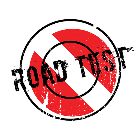 turnpike: Road Test rubber stamp. Grunge design with dust scratches. Effects can be easily removed for a clean, crisp look. Color is easily changed. Illustration