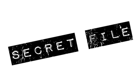 classified: Secret File rubber stamp. Grunge design with dust scratches. Effects can be easily removed for a clean, crisp look. Color is easily changed.