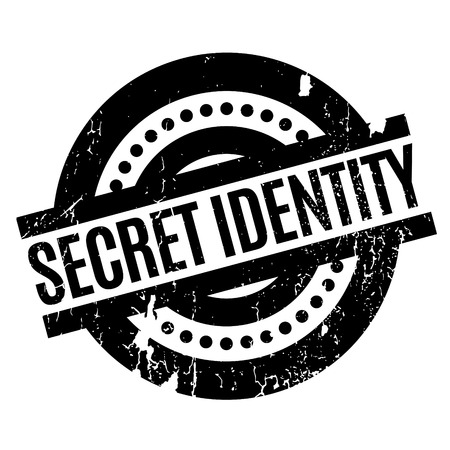 secret identities: Secret Identity rubber stamp. Grunge design with dust scratches. Effects can be easily removed for a clean, crisp look. Color is easily changed.