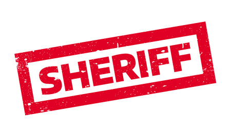 Sheriff rubber stamp. Grunge design with dust scratches. Effects can be easily removed for a clean, crisp look. Color is easily changed. Illustration