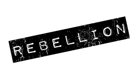 rebellious: Rebellion rubber stamp. Grunge design with dust scratches. Effects can be easily removed for a clean, crisp look. Color is easily changed.