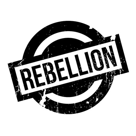 Rebellion rubber stamp. Grunge design with dust scratches. Effects can be easily removed for a clean, crisp look. Color is easily changed.