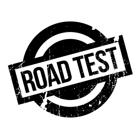 criterion: Road Test rubber stamp. Grunge design with dust scratches. Effects can be easily removed for a clean, crisp look. Color is easily changed. Illustration