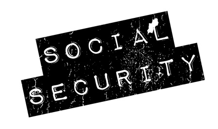 sociable: Social Security rubber stamp. Grunge design with dust scratches. Effects can be easily removed for a clean, crisp look. Color is easily changed.