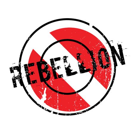 disobedience: Rebellion rubber stamp. Grunge design with dust scratches. Effects can be easily removed for a clean, crisp look. Color is easily changed.