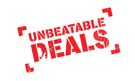 unbeatable: Unbeatable Deals rubber stamp. Grunge design with dust scratches. Effects can be easily removed for a clean, crisp look. Color is easily changed.