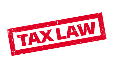 Tax Law rubber stamp. Grunge design with dust scratches. Effects can be easily removed for a clean, crisp look. Color is easily changed.