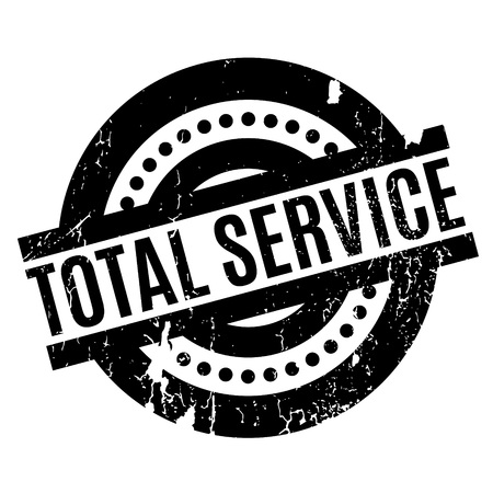 unrestricted: Total Service rubber stamp. Grunge design with dust scratches. Effects can be easily removed for a clean, crisp look. Color is easily changed.