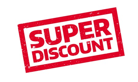 sensational: Super Discount rubber stamp. Grunge design with dust scratches. Effects can be easily removed for a clean, crisp look. Color is easily changed.