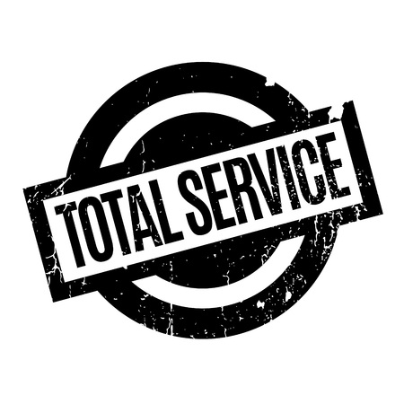 ministration: Total Service rubber stamp. Grunge design with dust scratches. Effects can be easily removed for a clean, crisp look. Color is easily changed.