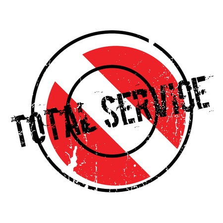 Total Service rubber stamp. Grunge design with dust scratches. Effects can be easily removed for a clean, crisp look. Color is easily changed.