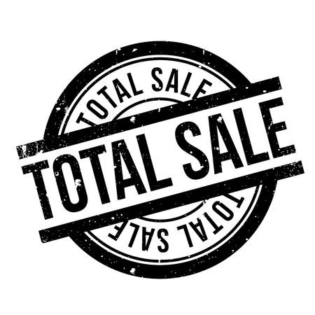 unrestricted: Total Sale rubber stamp. Grunge design with dust scratches. Effects can be easily removed for a clean, crisp look. Color is easily changed. Stock Photo