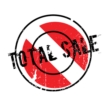 Total Sale rubber stamp. Grunge design with dust scratches. Effects can be easily removed for a clean, crisp look. Color is easily changed. Stock Photo