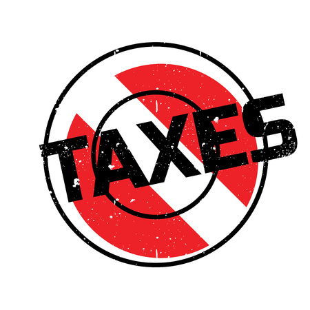 Taxes rubber stamp. Grunge design with dust scratches. Effects can be easily removed for a clean, crisp look. Color is easily changed. Stock Photo