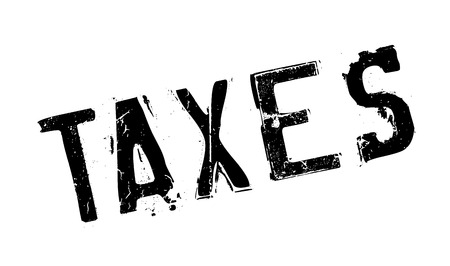 indirect: Taxes rubber stamp. Grunge design with dust scratches. Effects can be easily removed for a clean, crisp look. Color is easily changed. Illustration