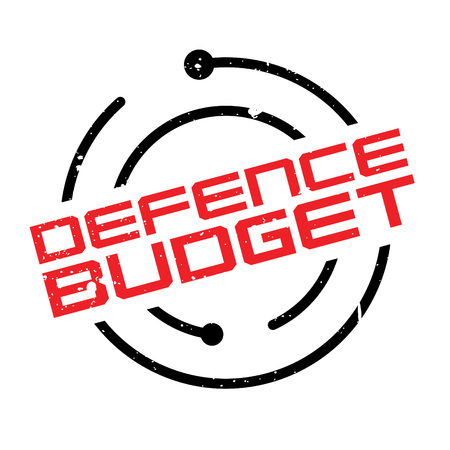 budgetary: Defence Budget rubber stamp. Grunge design with dust scratches. Effects can be easily removed for a clean, crisp look. Color is easily changed.