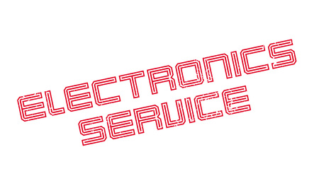 Electronics Service rubber stamp. Grunge design with dust scratches. Effects can be easily removed for a clean, crisp look. Color is easily changed.