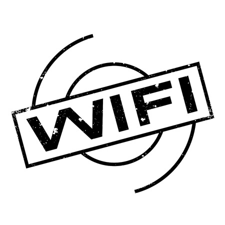 http: Wifi rubber stamp. Grunge design with dust scratches. Effects can be easily removed for a clean, crisp look. Color is easily changed. Illustration