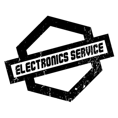 ministration: Electronics Service rubber stamp. Grunge design with dust scratches. Effects can be easily removed for a clean, crisp look. Color is easily changed.