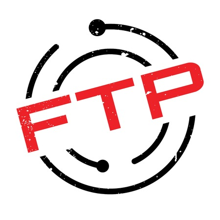 domains: Ftp (File Transfer Protocol) rubber stamp. Grunge design with dust scratches. Effects can be easily removed for a clean, crisp look. Color is easily changed.