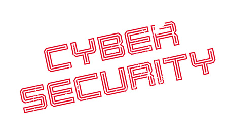 spy ware: Cyber Security rubber stamp. Grunge design with dust scratches. Effects can be easily removed for a clean, crisp look. Color is easily changed. Illustration
