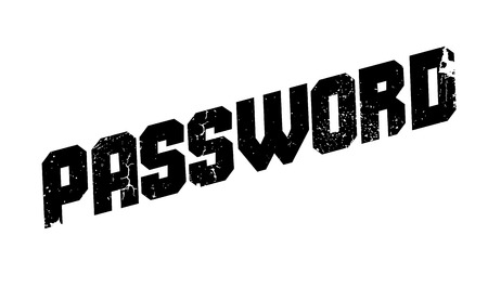 classified: Password rubber stamp. Grunge design with dust scratches. Effects can be easily removed for a clean, crisp look. Color is easily changed.