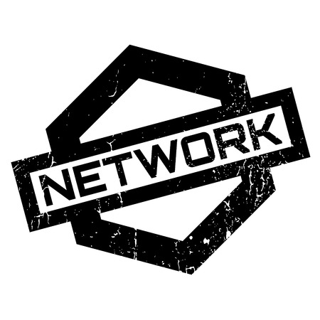 isp: Network rubber stamp. Grunge design with dust scratches. Effects can be easily removed for a clean, crisp look. Color is easily changed.